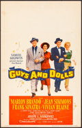 "Movie Posters:Musical, Guys and Dolls (MGM, 1955). Fine/Very Fine. Window Card (14"" X 22""). Musical.. ..."