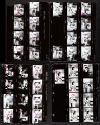"""Cleopatra (20th Century Fox, 1963). Fine+. Studio Release Keybook Contact Sheet Photos (7) (approx. 9"""" X 11.5""""..."""