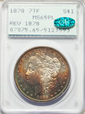 Morgan Dollars, 1878 7TF $1 Reverse of 1878 MS65 Prooflike PCGS. CAC....