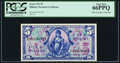 Military Payment Certificates:Series 521, Series 521 $5 First Printing PCGS Gem New 66PPQ.. ...