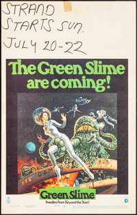 "The Green Slime (MGM, 1969). Fine/Very Fine. Window Card (14"" X 22""). Vic Livoti Artwork. Science Fiction"