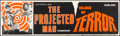 """Movie Posters:Science Fiction, The Projected Man/Island of Terror Combo (Universal, R-1967). Rolled, Fine. Silk Screen Banner (82.25"""" X 24""""). Scienc..."""