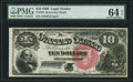 Large Size:Legal Tender Notes, Fr. 105 $10 1880 Legal Tender PMG Choice Uncirculated 64 EPQ.. ...