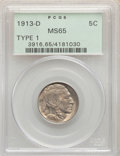 Buffalo Nickels, 1913-D 5C Type One MS65 PCGS. PCGS Population: (904/554). NGC Census: (542/203). CDN: $225 Whsle. Bid for problem-free NGC/...
