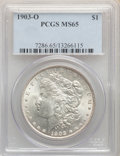 Morgan Dollars: , 1903-O $1 MS65 PCGS. PCGS Population: (2613/894). NGC Census: (1423/404). CDN: $550 Whsle. Bid for problem-free NGC/PCGS MS...