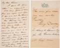 Autographs:Military Figures, George Dewey Autograph Quote Signed with Transmittal Autograph Letter Signed. ...