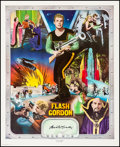 Movie Posters:Serial, Buster Crabbe as Flash Gordon (Nostalgia Merchant, 1977). Very Fine- on Linen. Autographed and Hand Numbered Limited Edition...
