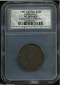 1787 COPPER Connecticut Copper, Draped Bust Left VG8 Brown--Scratched, Corroded--NCS, VG Details....(PCGS# 370)