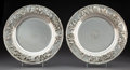 Silver & Vertu:Hollowware, A Pair of S. Kirk & Son, Inc. Silver Landscape Chargers, Boston, post-1924. Marks: S. KIRK & SON INC., STERLING, 925/1000,... (Total: 2 Items)