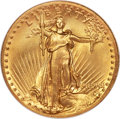 High Relief Double Eagles, 1907 $20 High Relief, Wire Rim MS68 NGC. In the Ju...