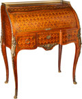 Furniture, A Christian Krass Louis XV-Style Gilt Bronze Mounted Parquetry Bureau á Cylindre, Lyon, France, circa 1900. Marks: Christi...