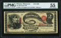 National Bank Notes:Minnesota, Winona, MN - $2 Original Fr. 389a The Merchants National Bank Ch. # 2268 PMG About Uncirculated 55.. ...