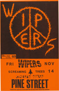 Music Memorabilia:Posters, The Wipers/Screaming Trees Pine Street Theatre (1986). ...