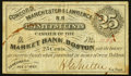 Obsoletes By State:New Hampshire, Concord, NH- Concord, Manchester & Lawrence R.R. at Market Bank 25¢ Dec. 1, 1862 Very Good-Fine.. ...