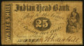 Obsoletes By State:New Hampshire, Nashua, NH- White & Hill at Indian Head Bank 25¢ Oct. 1, 1862 Very Good-Fine.. ...