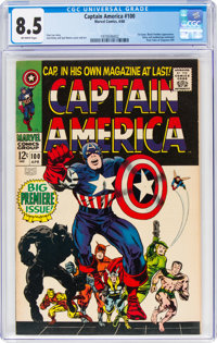 Captain America #100 (Marvel, 1968) CGC VF+ 8.5 Off-white pages