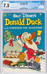 Four Color #367 Donald Duck (Dell, 1952) CGC VF- 7.5 Off-white to white pages