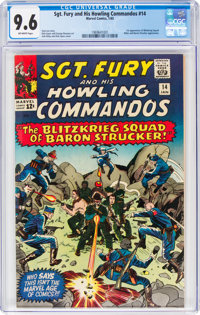 Sgt. Fury and His Howling Commandos #14 (Marvel, 1965) CGC NM+ 9.6 Off-white pages
