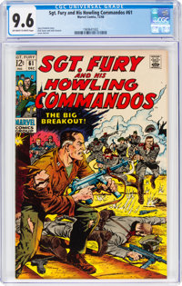 Sgt. Fury and His Howling Commandos #61 (Marvel, 1968) CGC NM+ 9.6 Off-white to white pages