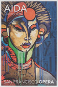 Fine Art - Work on Paper:Print, RETNA X San Francisco Opera. Aida, poster, 2016. Offset lithograph in colors on paper. 24 x 16 inches (61 x 40.6 cm) (sh...