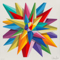 Prints:Contemporary, Okuda (20th Century). Kaos Star, 2016. Screenprint in colors on paper. 16-1/2 x 16-1/2 inches (41.9 x 41.9 cm) (sheet). ...