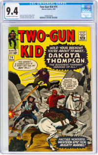 Two-Gun Kid #74 (Marvel, 1965) CGC NM 9.4 Off-white to white pages