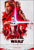 "Movie Posters:Science Fiction, Star Wars: The Last Jedi (Walt Disney Studios, 2017). Rolled, Near Mint. International One Sheet (27"" X 39.5"") DS, Advance, ..."
