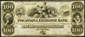 Obsoletes By State:New Hampshire, Portsmouth, NH- Piscataqua Exchange Bank $100 18__ Remainder Crisp Uncirculated.. ...