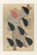 Prints:Contemporary, Kim Tschang-Yuel (b. 1929). Water Drops, from The Official Arts Portfolio of the XXIVth Olympiad, Seoul, Korea, 1988...