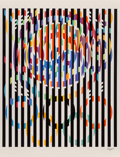 Prints:Contemporary, Yaacov Agam (b. 1928). Message of Peace, from Official Arts Portfolio of the XXIVth Olympiad, Seoul, Korea, 1988. Se...