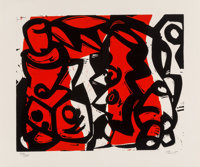 Charlie Hewitt (b. 1946) Untitled-J, 1985 Woodblock in colors on wove paper 20 x 24 inches (50.8
