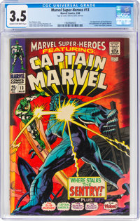 Marvel Super-Heroes #13 Captain Marvel (Marvel, 1968) CGC VG- 3.5 Cream to off-white pages