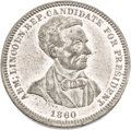 Political:Tokens & Medals, Abraham Lincoln: Choice 1860 Campaign Medal by Lovett....