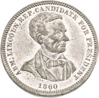 Abraham Lincoln: Choice 1860 Campaign Medal by Lovett