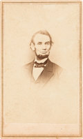 Photography:CDVs, Abraham Lincoln: Anthony/Brady CDV of One of Lincoln's Iconic Images. ...