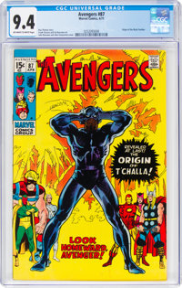 The Avengers #87 (Marvel, 1971) CGC NM 9.4 Off-white to white pages