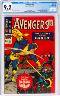 The Avengers #35 (Marvel, 1966) CGC NM- 9.2 White pages