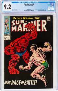 The Sub-Mariner #8 (Marvel, 1968) CGC NM- 9.2 Off-white pages