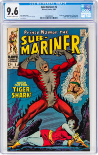The Sub-Mariner #5 (Marvel, 1968) CGC NM+ 9.6 Off-white to white pages