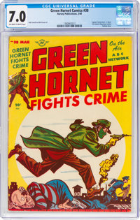 Green Hornet Comics #38 (Harvey, 1948) CGC FN/VF 7.0 Off-white to white pages