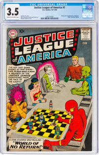 Justice League of America #1 (DC, 1960) CGC VG- 3.5 Cream to off-white pages