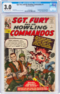 Silver Age (1956-1969):War, Sgt. Fury and His Howling Commandos #1 (Marvel, 1963) CGC GD/VG 3.0 Off-white to white pages....