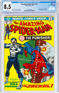 The Amazing Spider-Man #129 (Marvel, 1974) CGC VF+ 8.5 White pages