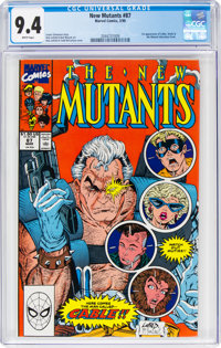 The New Mutants #87 (Marvel, 1990) CGC NM 9.4 White pages
