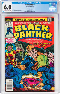 Black Panther #1 UK Price Variant (Marvel, 1977) CGC FN 6.0 Off-white to white pages