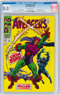 The Avengers #52 (Marvel, 1968) CGC VF 8.0 Off-white pages