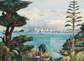 Fine Art - Painting, American:Contemporary   (1950 to present), Millard Sheets (American, 1907-1989). San Francisco from Sausalito, 1965. Watercolor on paper. 22 x 30 inches (55.9 x 76...