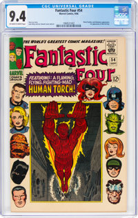 Fantastic Four #54 (Marvel, 1966) CGC NM 9.4 Off-white to white pages
