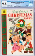 Golden Age (1938-1955):Cartoon Character, Dell Giant Comics: Bugs Bunny Christmas Party #6 (Dell, 1955) CGC NM+ 9.6 Off-white to white pages....
