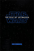 """Movie Posters:Science Fiction, Star Wars: The Rise of Skywalker (Walt Disney Studios, 2019). Rolled, Very Fine+. One Sheet (27"""" X 40"""") DS, Advance. Science..."""